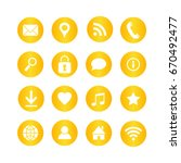 set of universal web icons for... | Shutterstock . vector #670492477