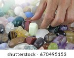 close up of crystal healer... | Shutterstock . vector #670495153