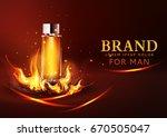 vector glass vial on a dark...   Shutterstock .eps vector #670505047