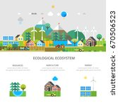 think green   modern renewable... | Shutterstock .eps vector #670506523