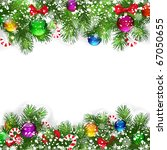 christmas background with... | Shutterstock . vector #67050655
