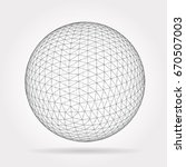 vector technology background... | Shutterstock .eps vector #670507003