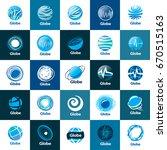 vector logo globe | Shutterstock .eps vector #670515163