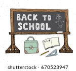 back to school hand drawn... | Shutterstock .eps vector #670523947