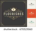 ornament logo design template... | Shutterstock .eps vector #670525063
