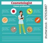 future profession cosmetologist ... | Shutterstock .eps vector #670526887