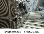 staircase made by glass in...   Shutterstock . vector #670529203