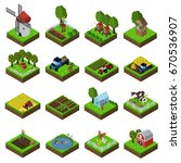 farm flat icon set | Shutterstock .eps vector #670536907