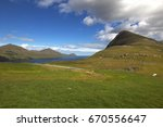 the nature of the faroe islands  | Shutterstock . vector #670556647