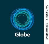 vector logo globe | Shutterstock .eps vector #670559797