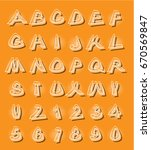 alphabet in modern style with... | Shutterstock . vector #670569847