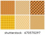 set seamless pattern with... | Shutterstock .eps vector #670570297