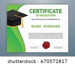 modern certificate of... | Shutterstock .eps vector #670572817