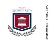university education logo design | Shutterstock .eps vector #670576597