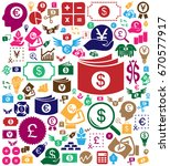colorful money icon backgroung  | Shutterstock .eps vector #670577917
