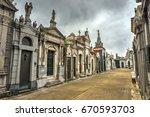 la recoleta cemetery  spanish ... | Shutterstock . vector #670593703
