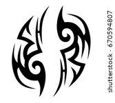 tattoo tribal vector designs. | Shutterstock .eps vector #670594807