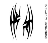 tribal tattoo art designs....   Shutterstock .eps vector #670594873