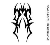 tribal tattoo art designs.... | Shutterstock .eps vector #670594903