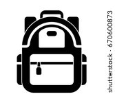 backpack icon | Shutterstock .eps vector #670600873