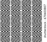 black chevron lines on white... | Shutterstock .eps vector #670603807