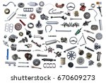 set with many isolated items... | Shutterstock . vector #670609273
