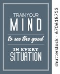 decoration quote art poster for ... | Shutterstock .eps vector #670618753