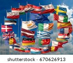 3d illustration of flags of the ...   Shutterstock . vector #670626913