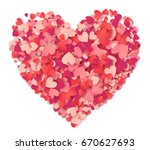 big heart made from hearts... | Shutterstock . vector #670627693