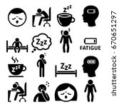 fatigue icons  tired  sleepy...   Shutterstock .eps vector #670651297