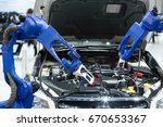 automated robotic scanning... | Shutterstock . vector #670653367