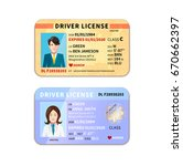different car driver licenses... | Shutterstock . vector #670662397