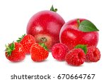 strawberry apple raspberry ... | Shutterstock . vector #670664767