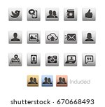 social icons   the file... | Shutterstock .eps vector #670668493