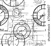 blueprints. mechanical... | Shutterstock .eps vector #670668607