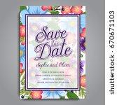 wedding invitation card suite... | Shutterstock .eps vector #670671103
