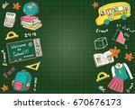 back to school flyer template   ... | Shutterstock .eps vector #670676173
