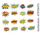 comic sound effect boobles set...   Shutterstock . vector #670706473