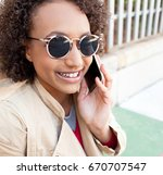 portrait of quirky beautiful... | Shutterstock . vector #670707547