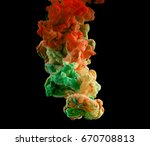 ink in water. ink swirling in... | Shutterstock . vector #670708813