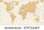 world map in vintage style.... | Shutterstock .eps vector #670716367