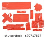 red duct repair tape isolated... | Shutterstock . vector #670717837