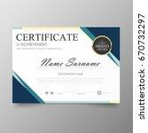 certificate premium template... | Shutterstock .eps vector #670732297
