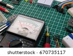 diy electrical maker tools... | Shutterstock . vector #670735117