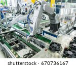 robotic and automation system... | Shutterstock . vector #670736167