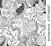 tracery seamless pattern.... | Shutterstock .eps vector #670746667