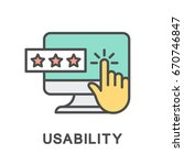 icon usability. assessment the...   Shutterstock .eps vector #670746847