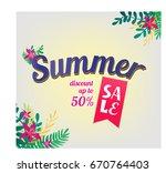 summer sale background   Shutterstock .eps vector #670764403