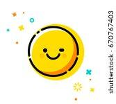 winks emoticon. trendy flat...   Shutterstock .eps vector #670767403