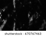 grunge black and white circle... | Shutterstock . vector #670767463
